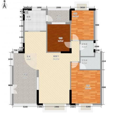 响水明苑3室1厅2卫1厨109.28㎡户型图
