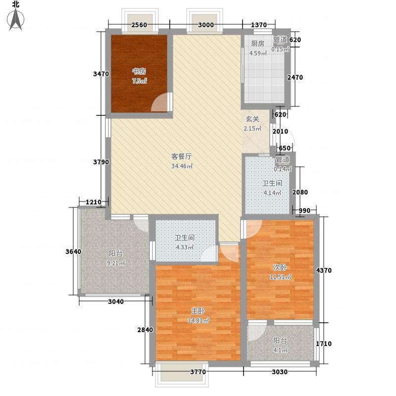 兰山泰和花园135.00㎡322135户型3室2厅2卫