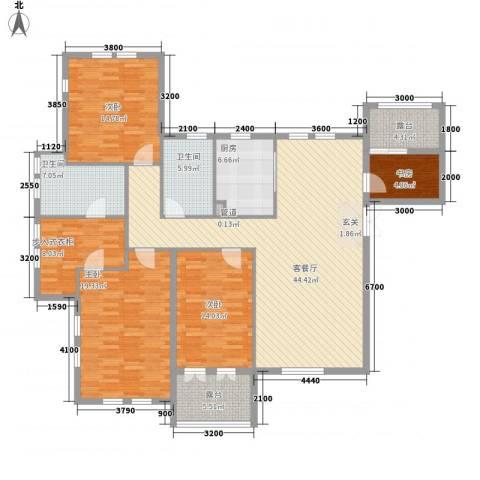 金海岸花园4室1厅2卫1厨158.00㎡户型图
