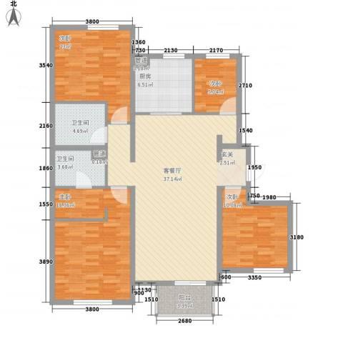 宜和美林4室1厅2卫1厨138.00㎡户型图