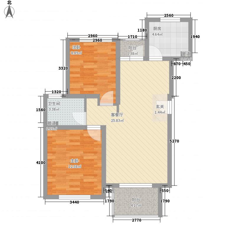 和憬家园88.00㎡户型2室2厅1卫1厨