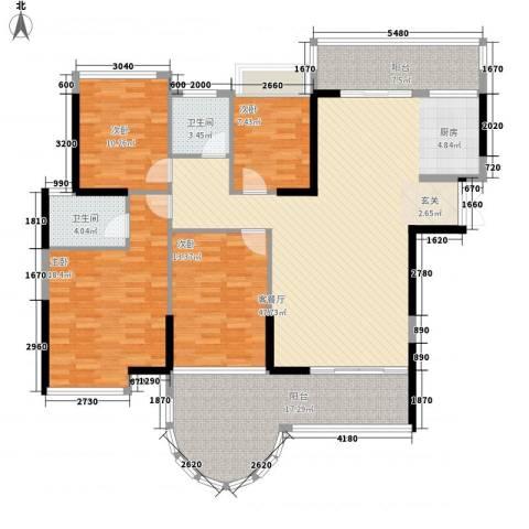 嘉宏世纪豪庭4室1厅2卫0厨157.00㎡户型图