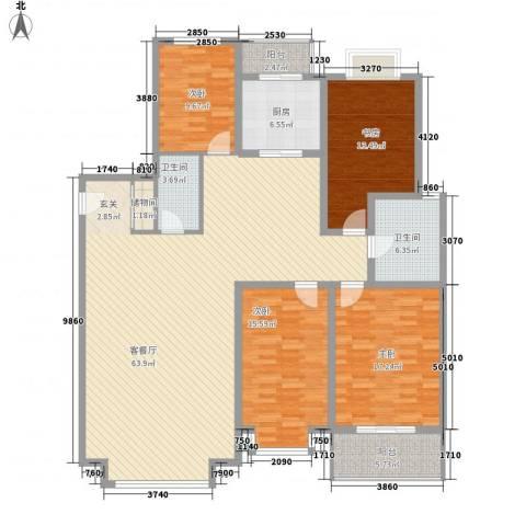 裕丰花园4室1厅2卫1厨204.00㎡户型图