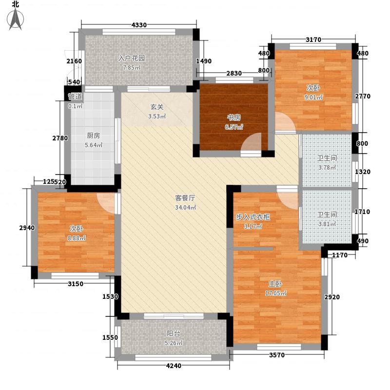 龙湖滟澜海岸4室1厅2卫1厨147.00㎡户型图