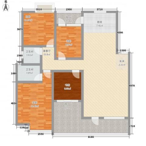 康庭苑4室1厅2卫0厨183.00㎡户型图