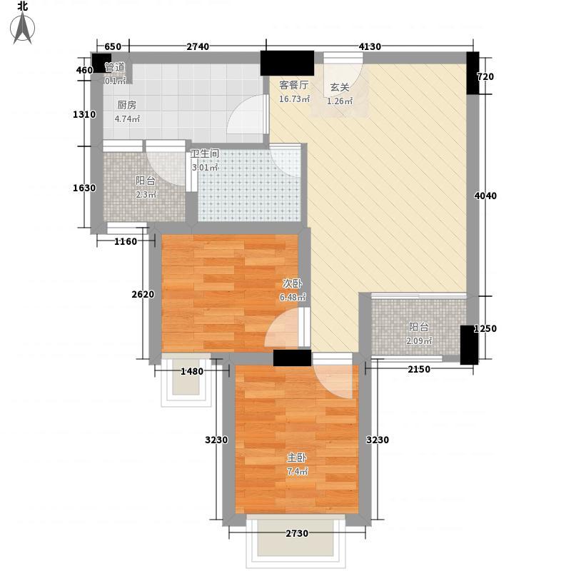 水木清晖园64.31㎡9栋0户型2室2厅1卫1厨