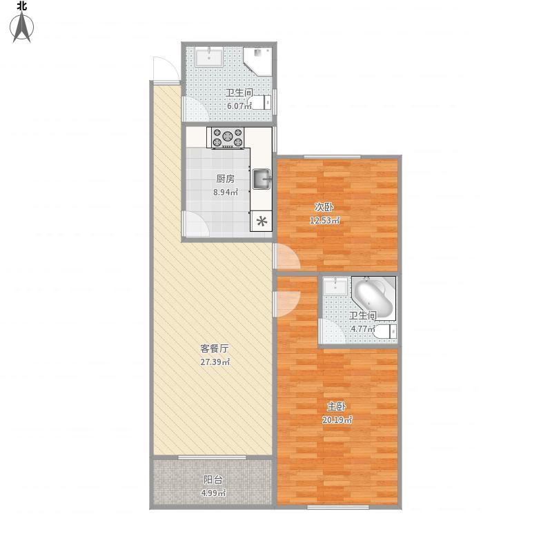诸暨西子公寓13楼原户型