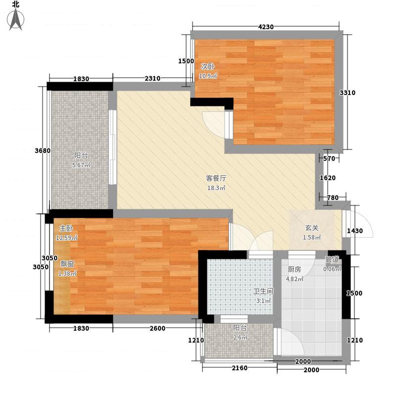 金鹏两江时光二期10幢标准层7号房户型