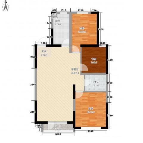 东安瑞凯国际3室1厅1卫1厨111.00㎡户型图