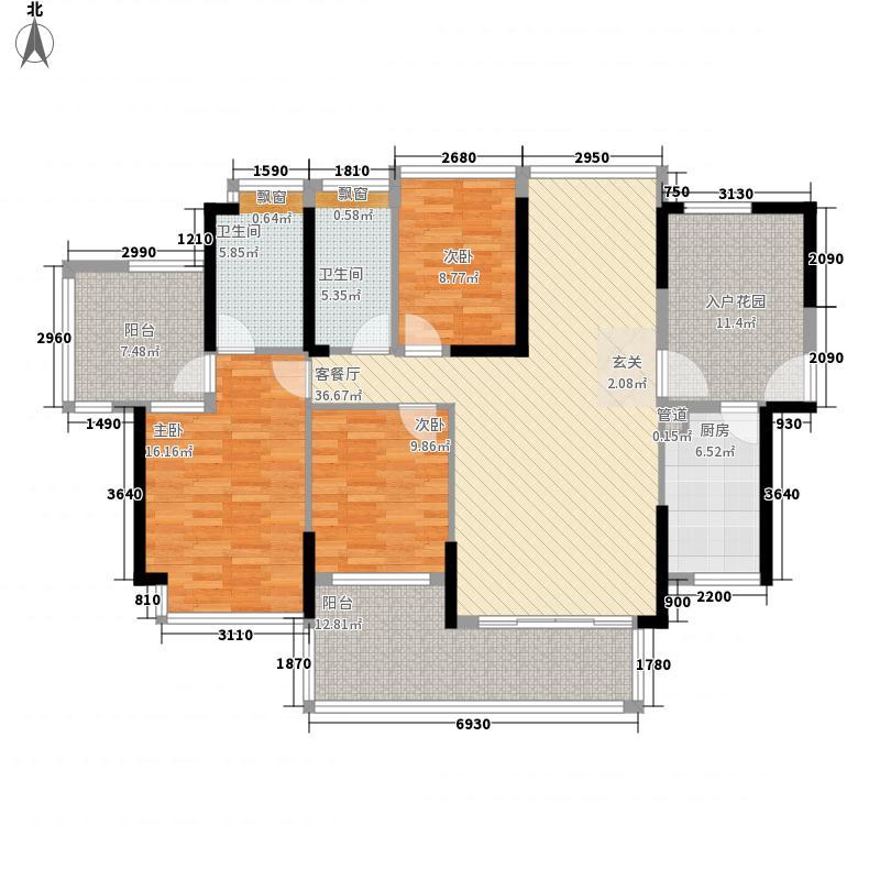 熙龙小镇126.17㎡5栋3单元0户型3室2厅2卫