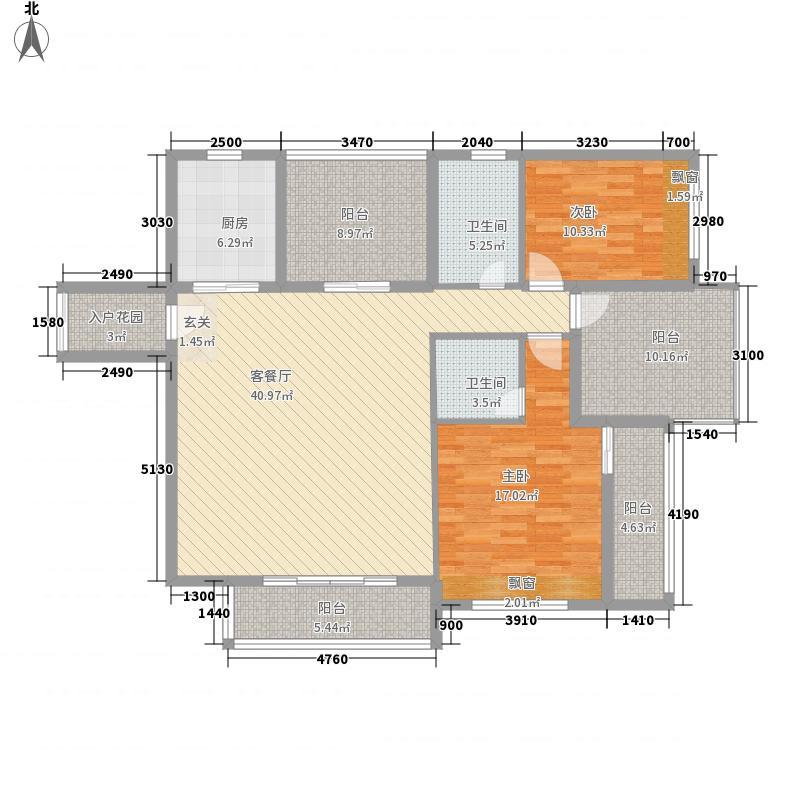 名门紫园13.83㎡二期G-3户型2室2厅2卫1厨