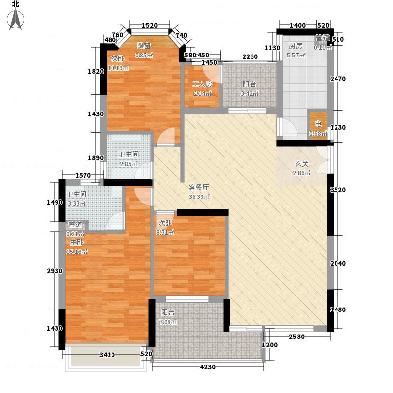 保利城二期136.83㎡尼曼玫瑰园L座02单位户型4室2厅2卫1厨