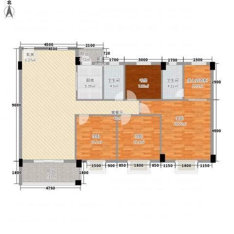 瑜进嘉园4室1厅2卫1厨122.42㎡户型图