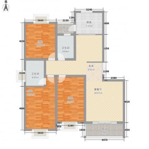 都市豪庭3室1厅2卫1厨112.37㎡户型图