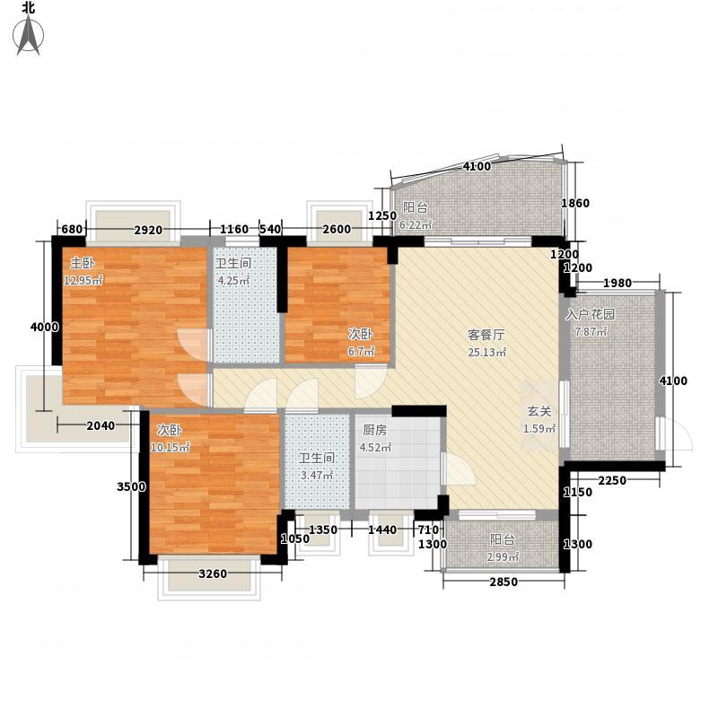 雅涛花园12.00㎡户型3室