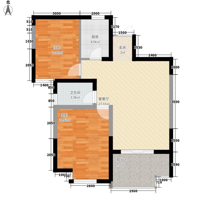 双河三村户型2室