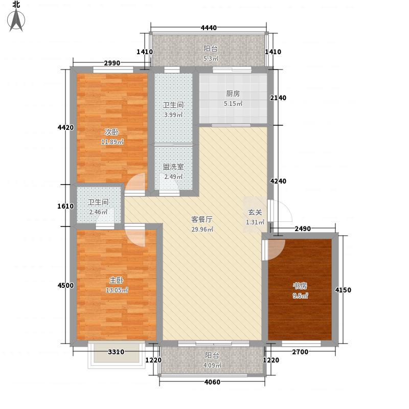 祥和花园3室2厅3户型3室2厅2卫1厨