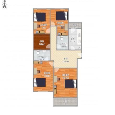 梵谷水郡13号楼3单元3A03【403】1室1厅2卫1厨152.00㎡户型图