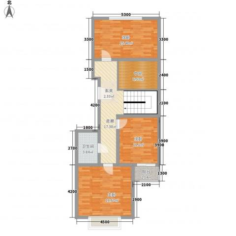 北美枫情3室0厅1卫0厨73.85㎡户型图