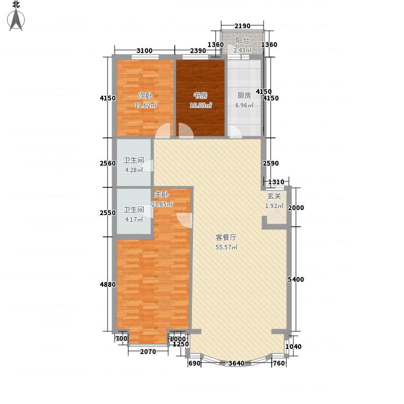 金厦雁翔苑162.71㎡金厦雁翔苑户型图3室2厅2卫户型10室