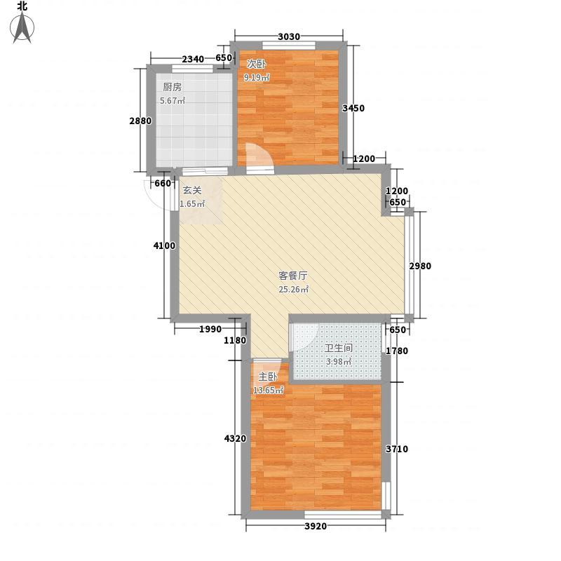 富海弘麟83.95㎡富海弘麟户型图S户型2室2厅1卫户型2室2厅1卫