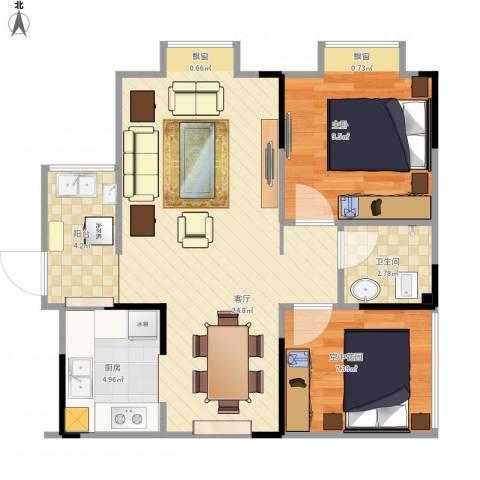 青橙2671室1厅1卫1厨70.00㎡户型图