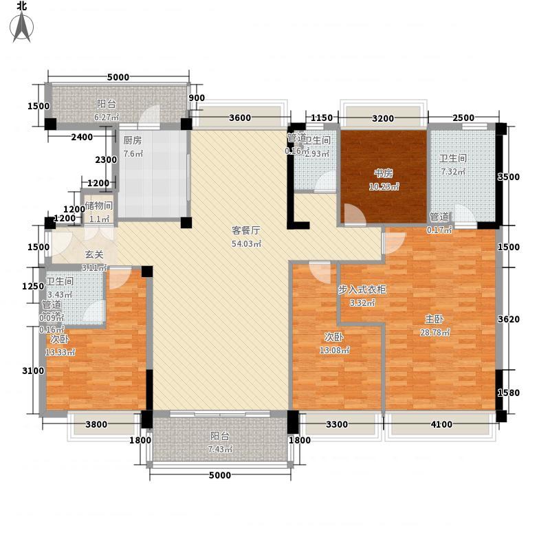 碧桂园九龙湾182.00㎡YJ180B户型4室2厅3卫1厨