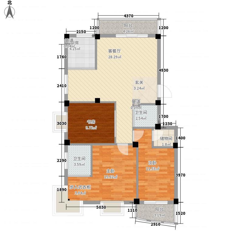 东坡丽园121.28㎡东坡丽园户型图3室2厅2卫1厨户型10室