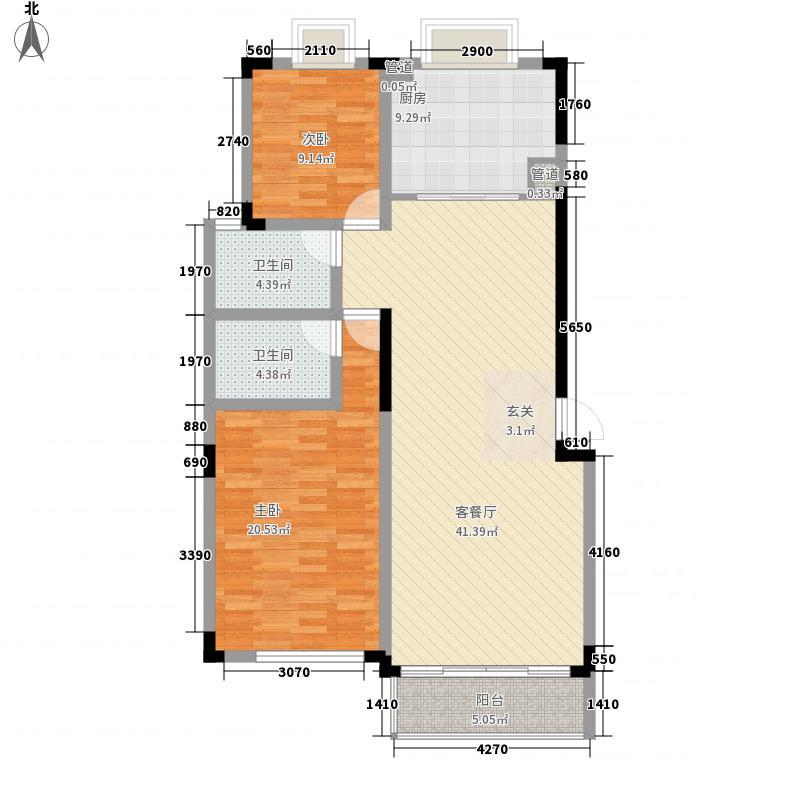 长兴苑134.43㎡长兴苑两室两厅两卫134.43平米D户型10室