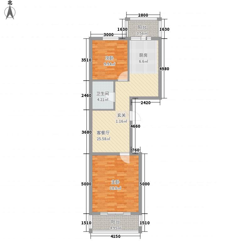 琅琊63.00㎡小区户型2室