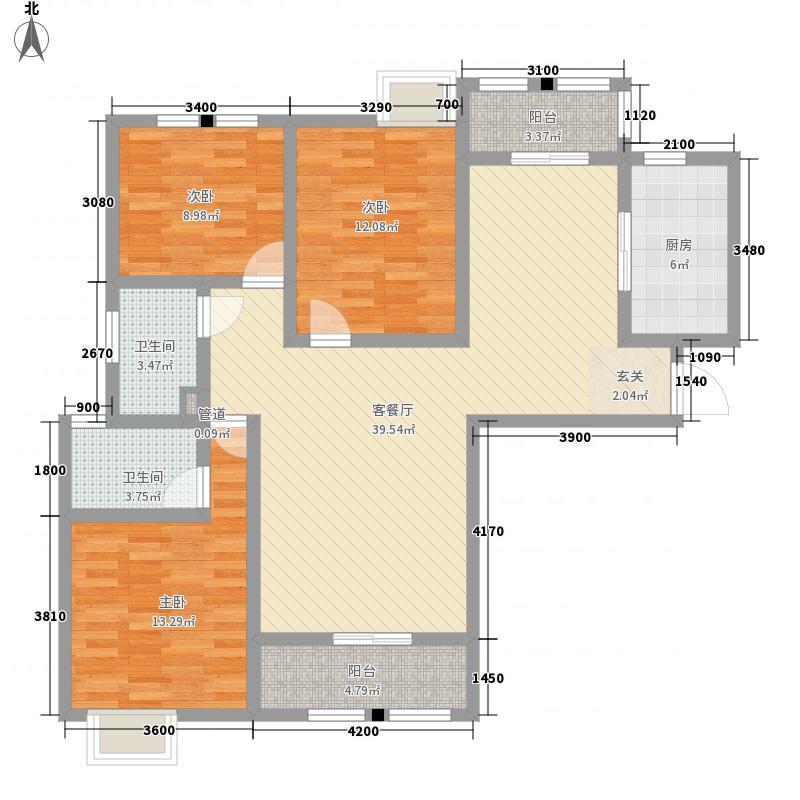 宝龙城市广场138.00㎡一期A2、A3户型3室2厅2卫1厨
