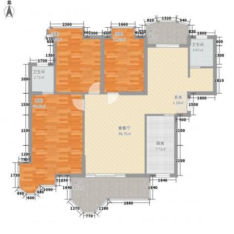 锦绣沙溪3室1厅2卫1厨112.31㎡户型图