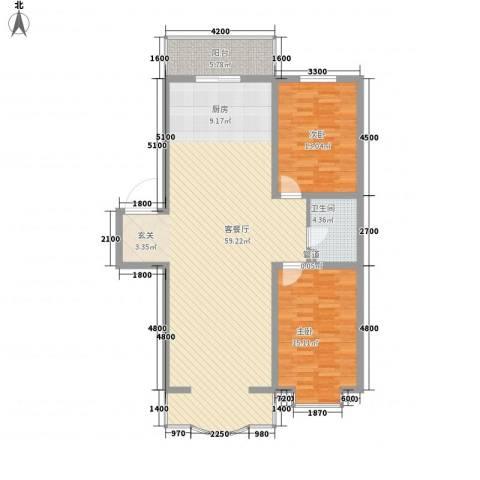 嘉禾花园(和平)2室1厅1卫0厨124.00㎡户型图