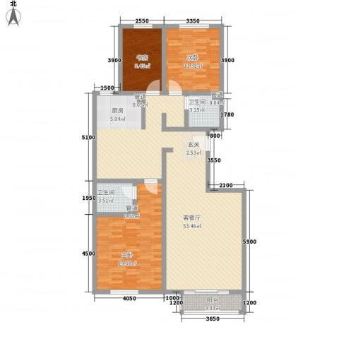 首府国际公馆3室1厅2卫0厨140.00㎡户型图