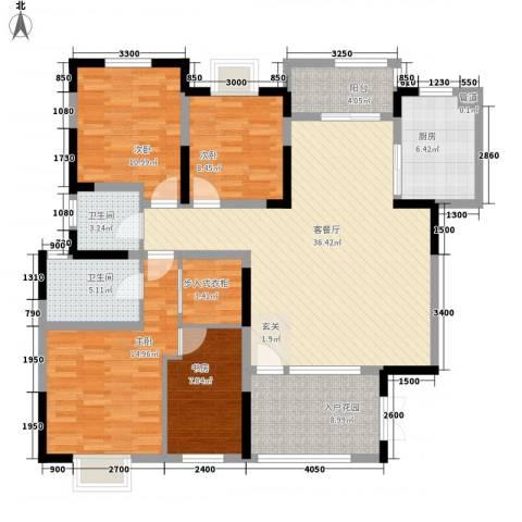 大槐树院4室1厅2卫1厨158.00㎡户型图