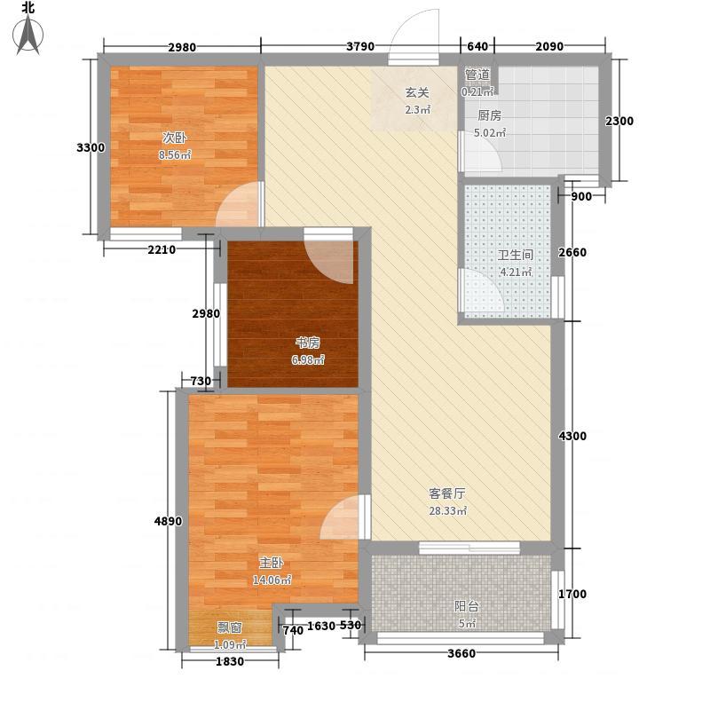 美联奥林匹克花园四期5号楼A3户型