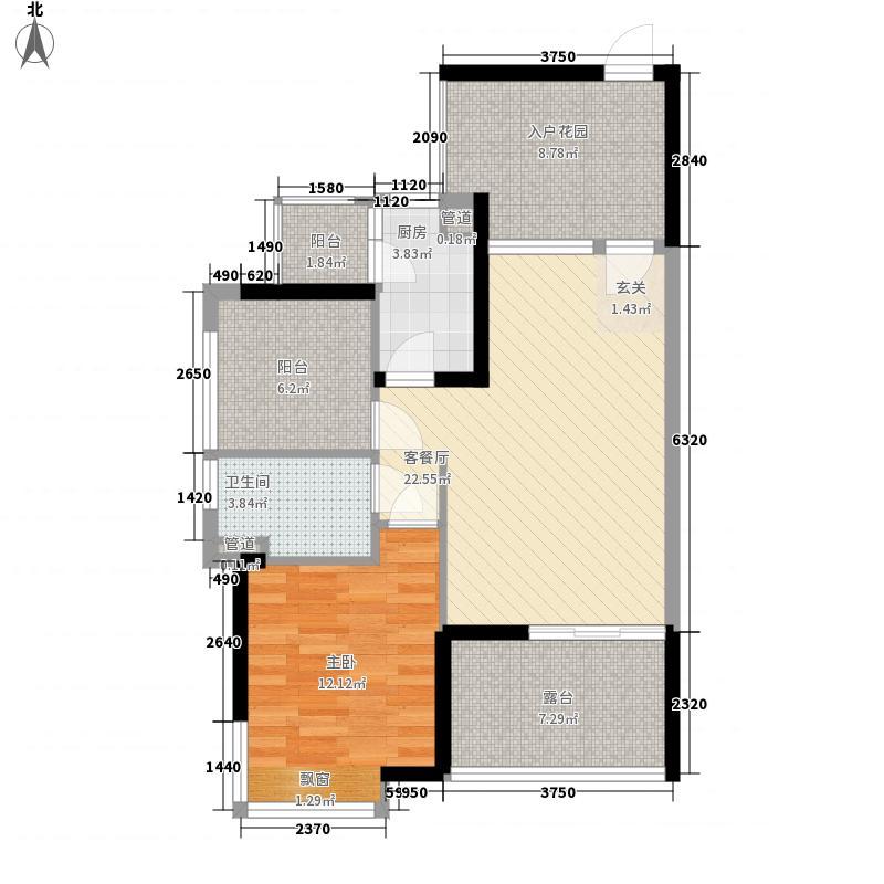 依云上城79.00㎡依云上城户型图一期3座4-27奇数层03-04户型1室2厅1卫户型1室2厅1卫
