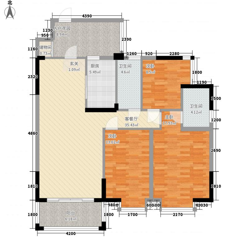 金碧苑124.40㎡2/5号楼01、0户型3室2厅2卫1厨