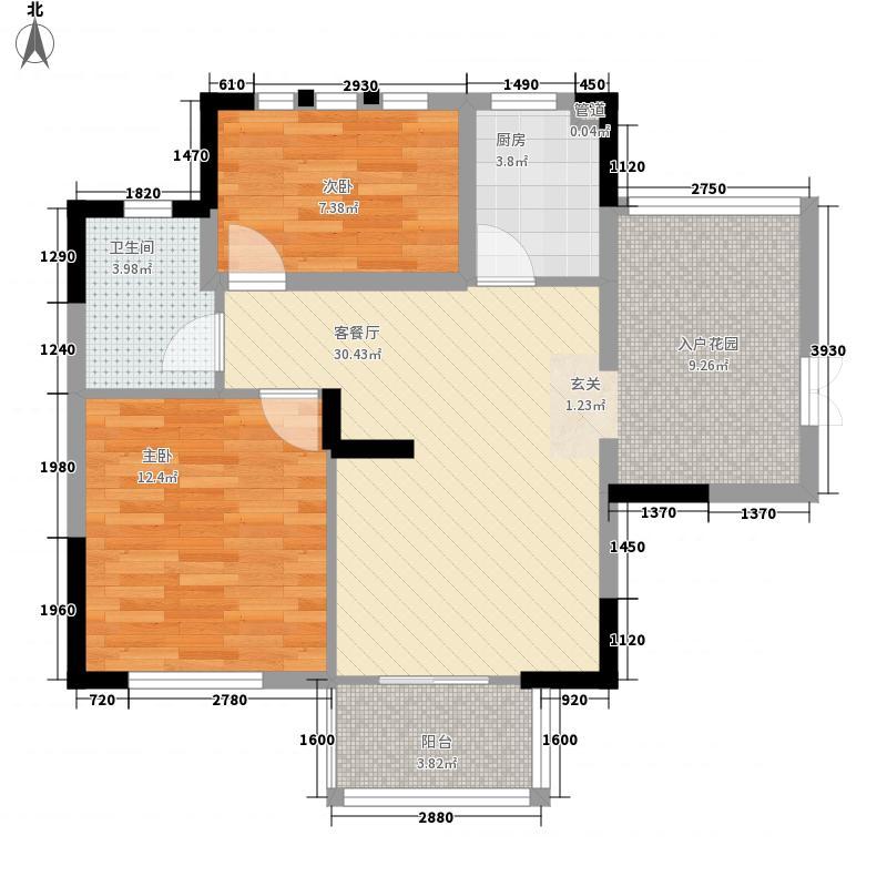 尚悦峰景78.27㎡尚悦峰景F座10-11层012室2厅1卫1厨78.27㎡户型10室