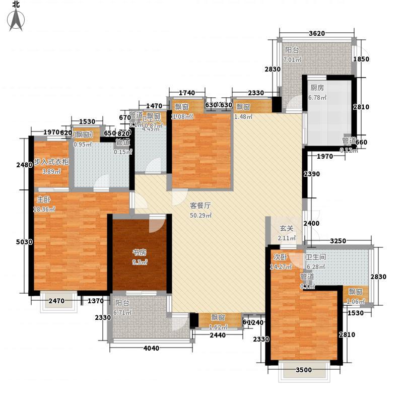 中信森林湖兰溪谷176.00㎡中信森林湖兰溪谷户型图6栋2单元标准层02户型4室2厅3卫1厨户型4室2厅3卫1厨