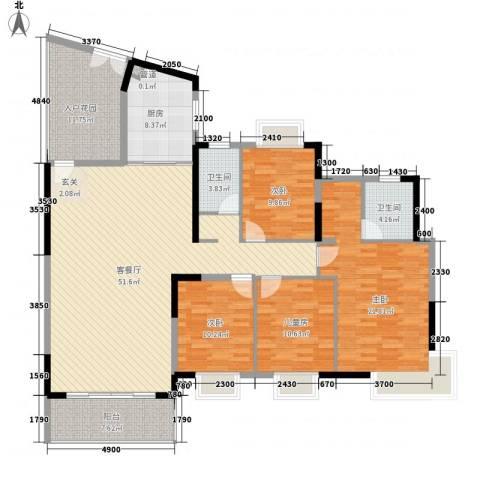 滨江新外滩4室1厅2卫1厨195.00㎡户型图