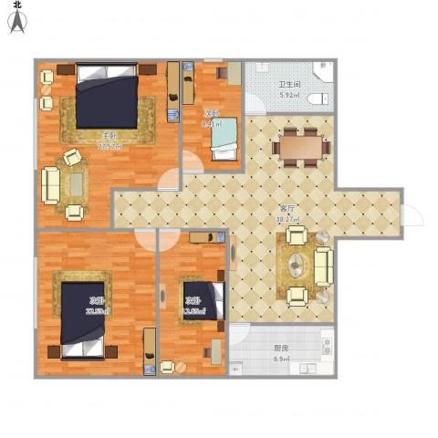鸿隆世纪广场7178084室1厅1卫1厨162.00㎡户型图