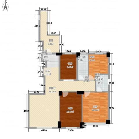 山海公园4室2厅2卫0厨153.00㎡户型图