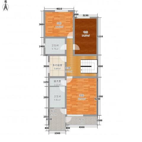 世纪嘉园3室1厅2卫0厨131.00㎡户型图