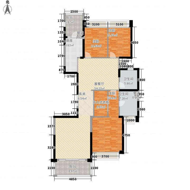 恒大城185.00㎡标准层02户型3室2厅2卫1厨