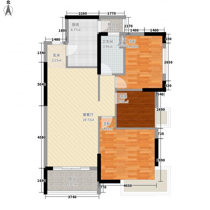 金地太阳城111.00㎡户型4室