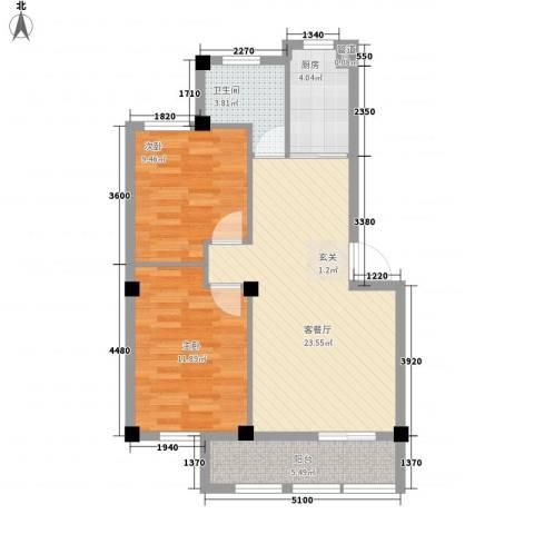 奥林802室1厅1卫1厨83.00㎡户型图