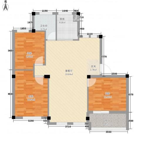 奥林803室1厅1卫1厨111.00㎡户型图