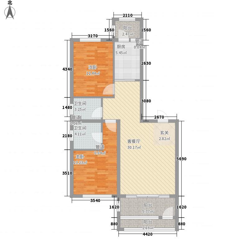萧乡明珠115.37㎡萧乡明珠户型图C户型图2室2厅2卫1厨户型2室2厅2卫1厨