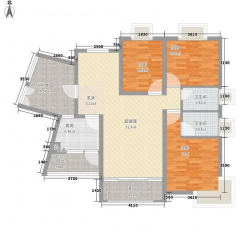 颐和人家3室0厅2卫1厨136.00㎡户型图